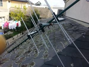 broken roof lates in St Kilda needing repairs
