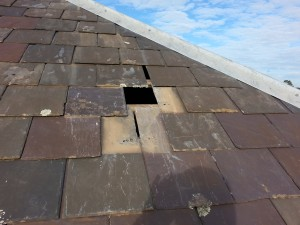 slate roofing repairs needed Carlton