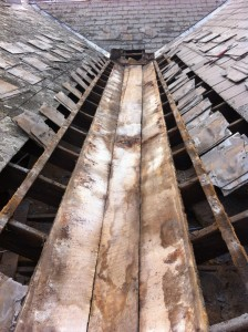 Ascot vale slate roofing gutter leak repaired
