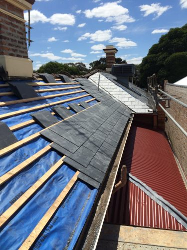 Slate roof re-roofing