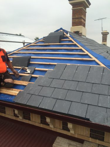 Replacing slate roof Melbourne