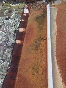 Melbourne slate roof gutters