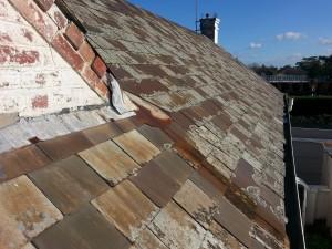 Brighton leaking slate roof valley