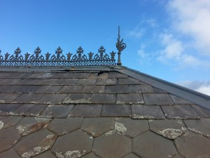 roof slate slipping out of position