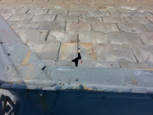 slipping roof slates cause leaking