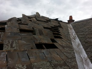 slate roof valley gutter replaced Melbourne restoration