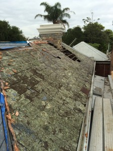 North Melbourne slate roof repairs needed