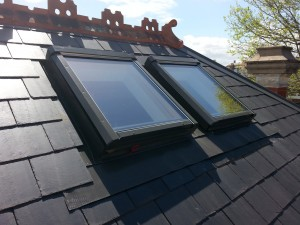 Victorian and Edwardian slate roof skylights installed