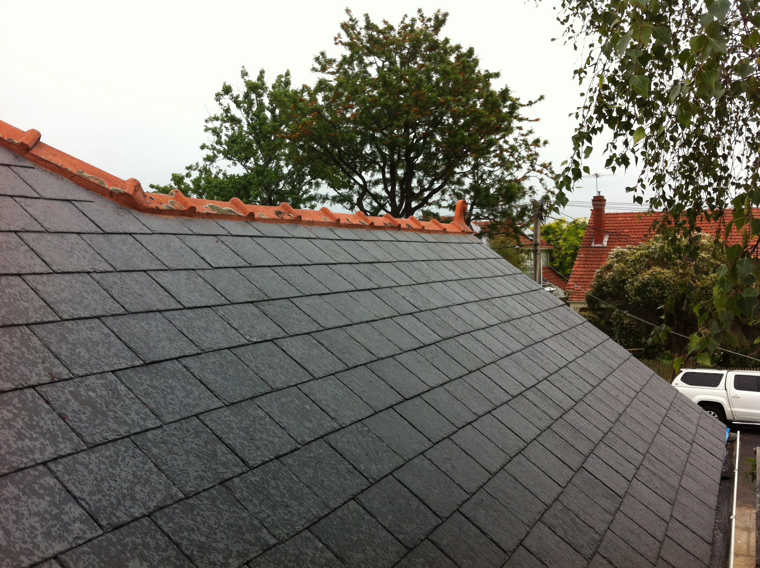 Edwardian roof slate restoration