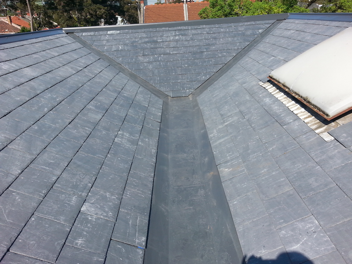 Slate roof re-roof North Melbourne