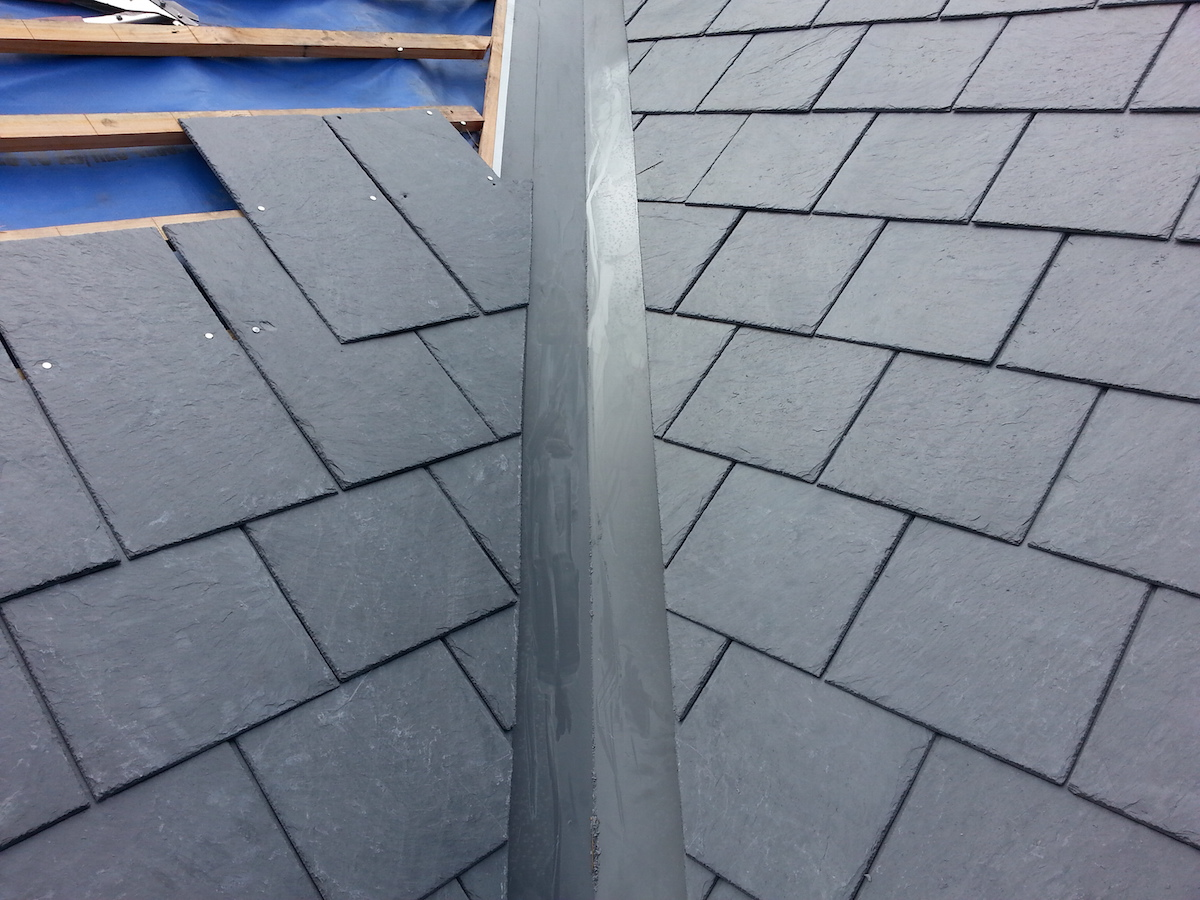 Valley installation Melbourne slate roof